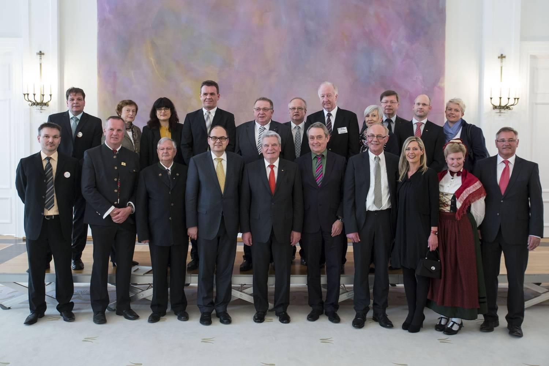 Oberveischeder Delegation beim Bundsepräsidenten Gauck