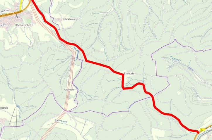 Ausbau der Franzenstraße (Oberveischede-Einsiedelei-Quermke)