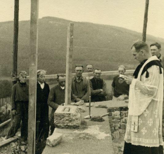 Grundsteinlegung der Marienkapelle heute vor 75 Jahren (Korrektur)